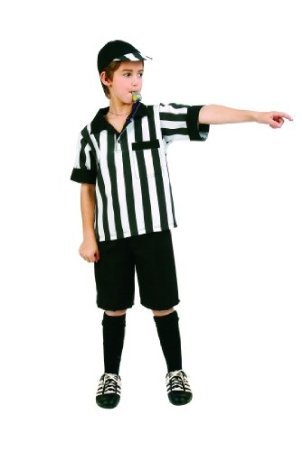 RG Costumes Referee Boy Costume Black/White Small (4-6)