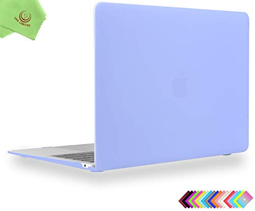 UESWILL Smooth Matte Hard Shell Case Cover for 2018 2019 MacBook Air 13 inch Retina Display & Touch ID & USB-C (Model A1932) + Microfibre Cleaning Cloth, Serenity Blue