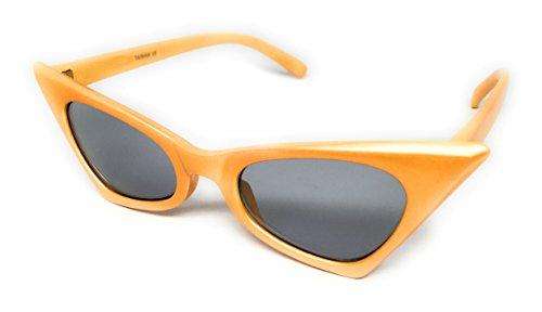 Orange Cream Cat - WebDeals - Cateye or High Pointed Eyeglasses or Sunglasses…… (Chic Cat, Orange Cream Blue Haze)