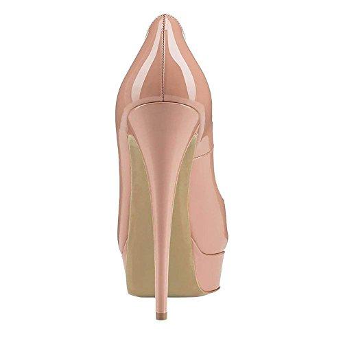 Tacco Festa fondo Scarpe Pan Caitlin A Peep Tacchi Pompe Dress R0ss0 nude Alti Col On Slip Piattaforma Donna Stiletti Toe Sandali awwxqCPH
