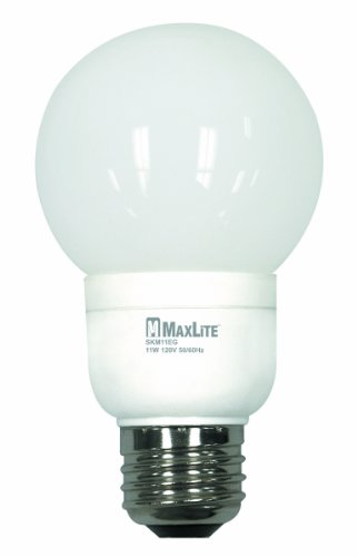 G20 Globe (MaxLite SKM11EGWW G20 Globe 40-Watt incandescent equivalent Energy Star Qualified CFL Lamp)