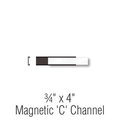 SmartSign Magnetic 'C' Channel Label Holders for Metal Racks and Shelves   0.75