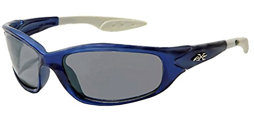 X Loop Kids Athletic Sport Designer Fashion Sunglasses with UV400 Lens - Available in Black with Blue, Silver or Red Flames- Includes Custom Branded Microfiber Pouch & Cleaning - For Boys Sunglasses For Oakleys Sale