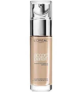 LOreal Paris Make-up Designer Accord Perfect Maquillaje Fluido, Tono: Beige