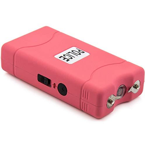 POLICE Stun Gun 800-30 Billion Mini Rechargeable with LED Flashlight, Pink]()