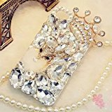 iPhone 7 Plus Crystal Diamond Case,iPhone 7 Plus Rhinestone Case,Luxury Fox Head Crown Crystal Rhinestone Diamond Bling Clear Hard Back Phone Case Cover For iPhone 7 Plus (Bling Iphone)
