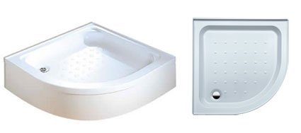Coram Showers YDQ80WHI 800 x 800mm 2-Tiling Upstand Quadrant Shower Tray by Coram (Quadrant Shower Trays)
