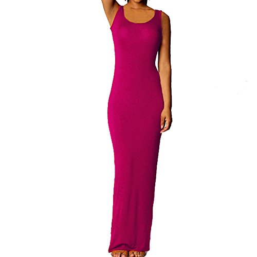 TEERFU Damen Cocktail Kleid Rose SVErx