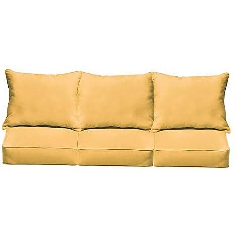 Amazon.com: Hebel Fresco 6 Piece Outdoor Corded Sofa Pillow ...