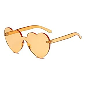 YABINA Large Oversized Womens Heart Shaped Sunglasses Cute Love Fashion Eyewear (G)