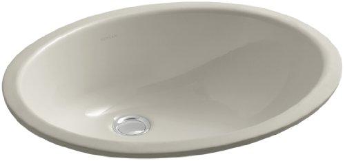 (KOHLER K-2210-G9 Caxton Undercounter Bathroom Sink, Sandbar)