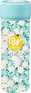 Holiday Pearlized Snowflakes Mix Sprinkles, 4 Ounces by -