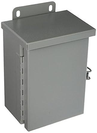 Small 12 x 12 x 6 Carbon Steel Wiegmann RHC121206 RHC-Series NEMA 3R Rainproof Hinge Cover Wall-Mount Enclosure