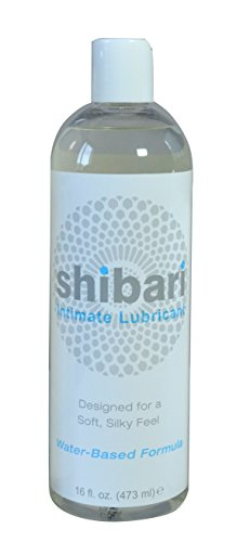 Shibari Intimate Lubricant, Water Based, for Women's Soft Skin, 16oz Bottle (Lube 16 Ounce Bottle)