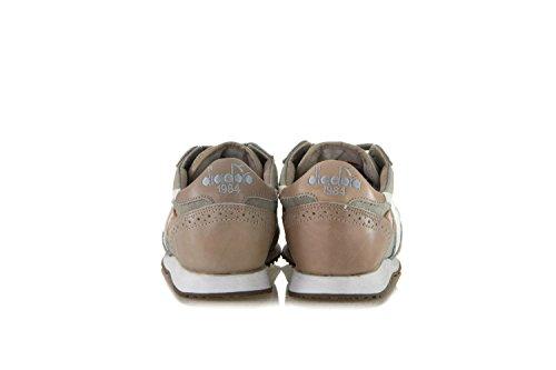 DIADORA HERITAGE Herren Damen Schuhe Sneakers Aus Canvas Und Leder TRIDENT C DYED BROGUE Grau