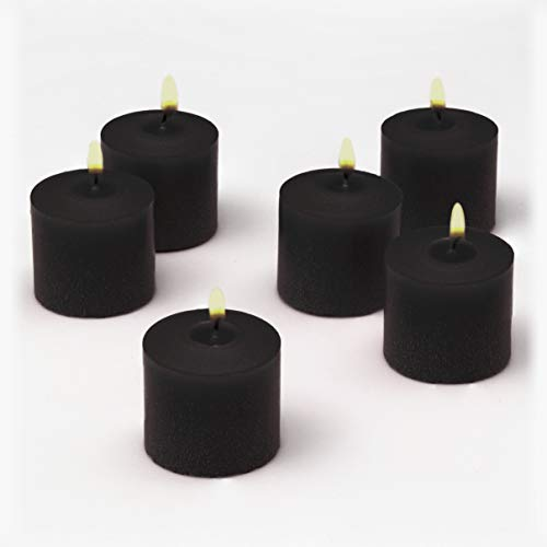 Black Votive Candles Bulk Unscented Box of 72 Decorations for Dinner Wedding Halloween Holiday Party Restaurant Made in USA -