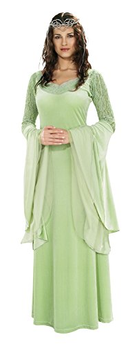 Arwen Dress Adult Costumes (Rubie's Costume Lord Of The Rings Deluxe Queen Arwen Dress and Tiara, Green, One Size)