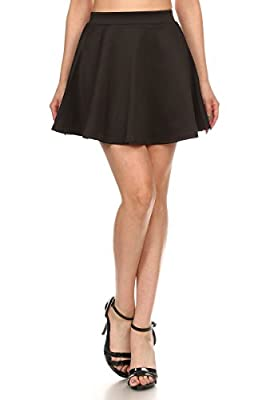 J2 LOVE Made in USA Flared Mini Skater Skirt (up to 5X)