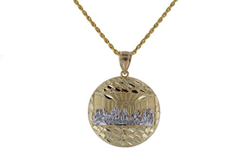 Nugget Jewelry (10k Yellow and White Gold The Last Supper Pendant Necklace Hip Hop Nugget)