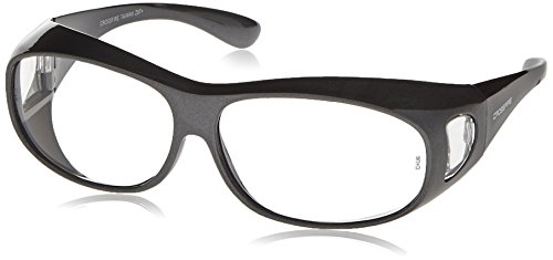 Crossfire 3114 OG3 Over the Glass Safety Glasses Clear Lens - Shiny Pearl Gray Frame