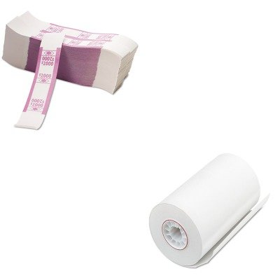KITPMC05209PMC55032 - Value Kit - Pm Company Single-Ply Thermal Cash Register/POS Rolls (PMC05209) and Pm Company Color-Coded Kraft Currency Straps (PMC55032)