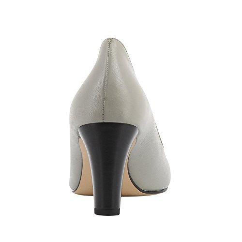 Mujer Zapatos Tacón de con claro gris Shoes para Cerrada Evita Punta Bianca qxZAqpEz