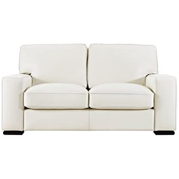 Pleasing Natuzzi Editions Matera Cream Leather Stationary Loveseat Pabps2019 Chair Design Images Pabps2019Com