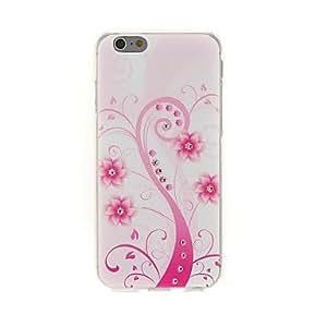 ZXM- kinston arte rosada pasta de diamante árbol patrón TPU suave para el iphone 6