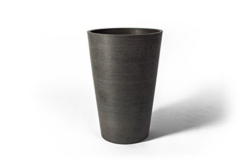 Algreen 16240 Charcoal Valencia Round Planter Pot, 16.25
