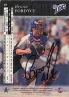 (Brook Fordyce New York Mets 1994 Upper Deck SP Prospects Autographed Card - Rookie Card. This item comes with a certificate of authenticity from Autograph-Sports. Autographed)