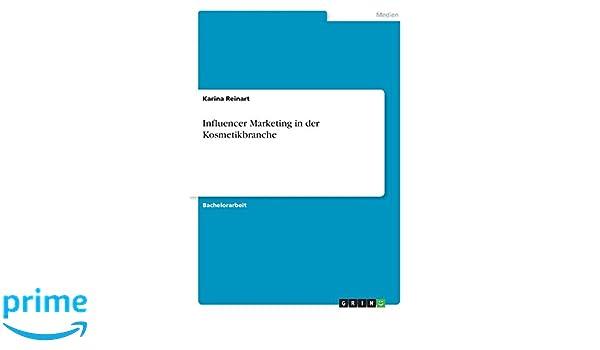 Influencer marketing bachelorarbeit themen literaturverzeichnis englisch
