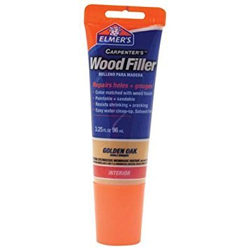 - Elmer's E861 Carpenter's Wood Filler, 3.25-Ounce Tube, Golden Oak - 2 Pack