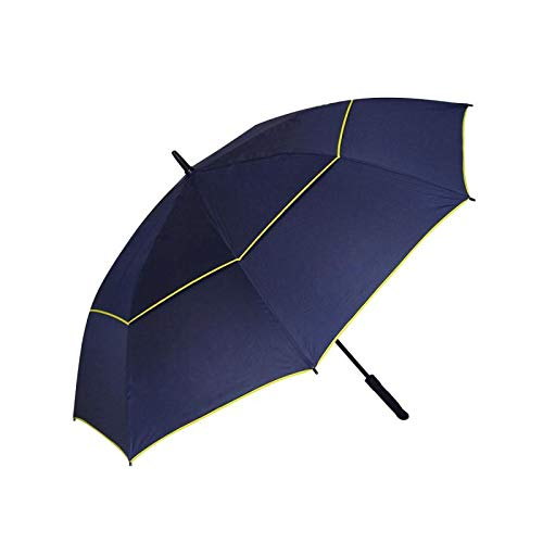 (J&H Sunshiny Windproof Waterproof Golf Umbrella 60 Inch Automatic Open Extra Large Oversize Double Canopy Rain & Wind Resistant Vented Stick Umbrellas Quick Drying for Men and Women(Blue))