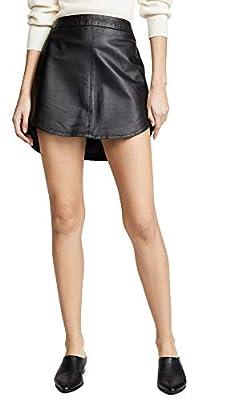 BB Dakota Women's Conrad Leather Mini Skirt