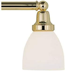 Livex Lighting 1023-02 Classic 3-Light Bath Light, Polished Brass