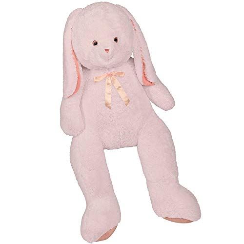 - Giant Fluffy Durable Bunny Stuffed Toy – Rabbit Animal Stuffed Toy | Soft, Lovely, Cuddly | Floppy Extended Ears | Gift for Kids | 7 Feet High | Pink