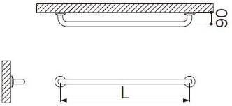 ミヤコ MIYAKO MB150S握りバー(ステンレス)【MB150S】寸法 38×1000 トイレ配管部材【メーカー直送のみ・代引き不可・NP後払い不可】