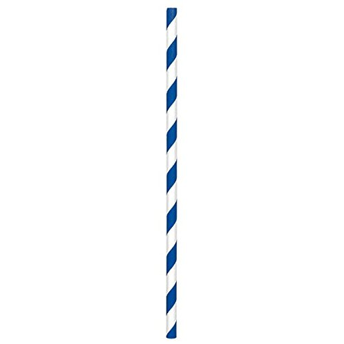 amscan Royal Blue Paper Straws | 24 Ct.