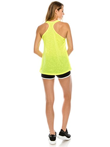 a04d09cf917 خرید EttelLut Flowy Workout Yoga Tank Tops Loose Neon Racerback Athletic  Packs