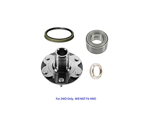 Toyota Tundra Prerunner - 2WD Toyota 4Runner 4 Runner Sequoia Tundra Tacoma Front Wheel Hub Wheel Bearing Kit Left or Right For 2WD Only. Will NOT Fit 4WD With Seal 710571