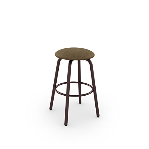 Amisco Log Swivel Metal Barstool, 30-Inch, Sienna/Soya