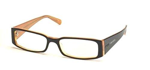 top black on orange prada pr10fv eyeglasses