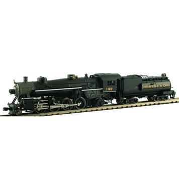 (MODEL POWER 87595 2-8-2 Mikado w/Vandy Oil Tender C&O N)