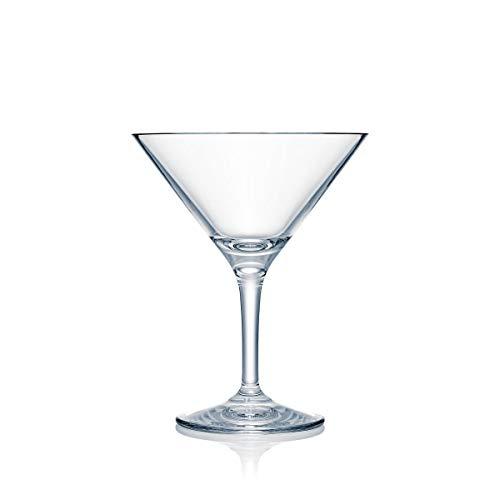 Strahl Design+Contemporary 12-oz Martini Glass, Set of 4 (Plastic Acrylic Martini Glasses)