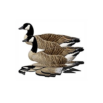Giant Goose Decoy -  6-Pack Foldable Giant Goose for Hunting -  Land and Water Use -  Waterproof, Shot-Proof -  Realistic UV Certified Decoy Paints -  Includes Anchors, Anchor String and Fudslinger ()