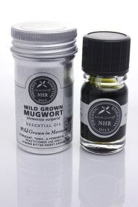 Wild Crafted Mugwort Essential Oil (Artemisia vulgaris) (10ml) by NHR Organic Oils - Mugwort Essential Oil