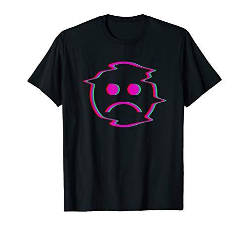 (Sadboi Shirt - Sad Face Shirt - Multicolor Glitch Shirt)
