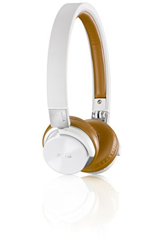 AKG Y45BT White Mini On-Ear Wireless Bluetooth Headphone with NFC and By-Pass Cable, White