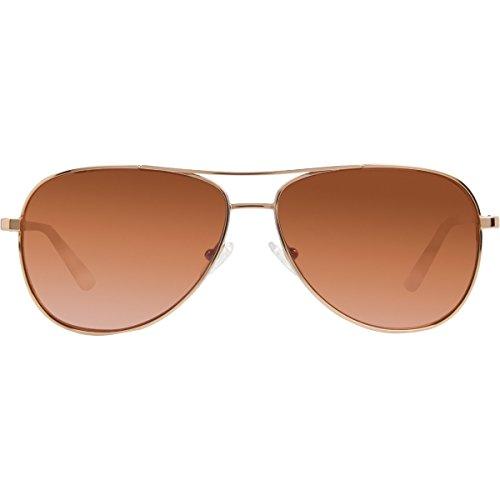 Revo Relay RE 1014 14 OR Polarized Aviator Sunglasses, Rose Gold, 59 - Rose Amber Sunglasses