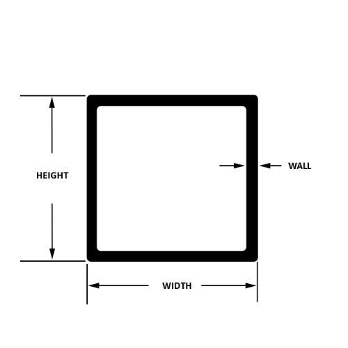 온라인 금속 공급 304 스테인레스 스틸 사각 튜브 3 x 3 x 12 길이 ..